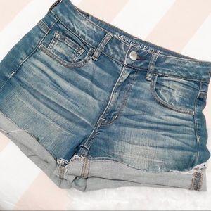 Hi-rise American eagle denim & jean shorts